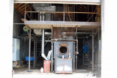 Our woodchip burning gasification boiler to heat the kilns.